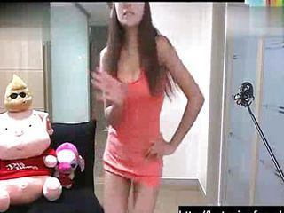 Sexy Korean webcam girl dancing