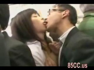 Asian Kissing Public