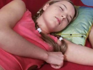 Pigtail Sleeping Teen
