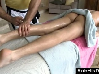 Massage Guy Toys Male Client With Buttplug