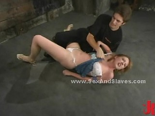 Redhead Slut Fighting In Bondage Sex And Submission With Pervert