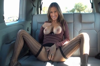 Big Tits Car Masturbating  Stockings