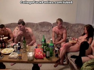 Drunk European Groupsex Orgy Party Student Teen