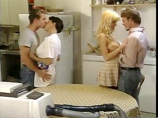 Groupsex Kitchen Teen