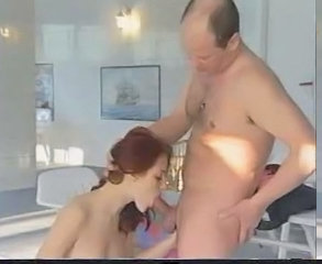 Babe Blowjob Daddy Old and Young Redhead