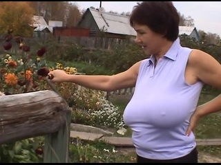 Big Tits Farm  Mom Natural Nipples Outdoor