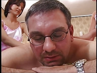 Daddy Daughter European Italian Old and Young Teen Threesome