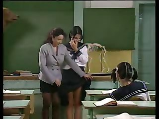 Lesbian  Old and Young School Student Teacher Teen Uniform