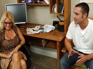 Big Tits Glasses  Mom Office Old and Young Pornstar Secretary