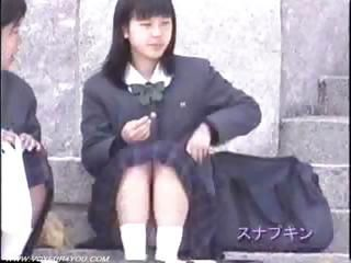 Asian Outdoor Public Student Teen Uniform Upskirt Voyeur