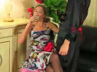 Drunk Mature Old and Young Pantyhose
