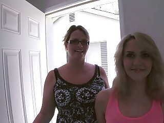 Daughter Glasses Mom Old and Young Teen