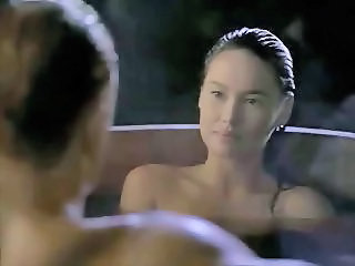 Asian Tia Carrere goes for Dolph Lundgrens Big Blond Cock