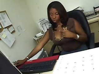 Chubby Ebony  Office Secretary