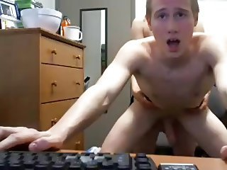 OMG,Cute Straight Boy Getting Fucked By A Girl,1st Time Cam