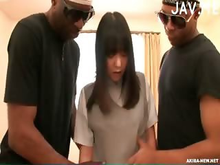 Asian Interracial Japanese Teen Threesome
