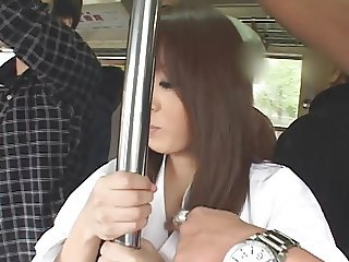 Asian Bus Japanese  Pornstar Public