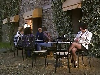 European French  Outdoor Pornstar Public Stockings Vintage