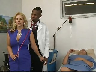 Big Tits Doctor Interracial