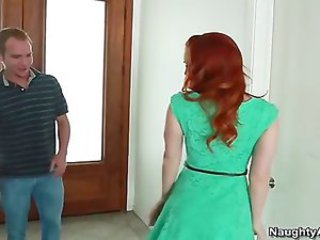 small tit redhead Dani Jensen cheats on boyfriend with his big cock friend