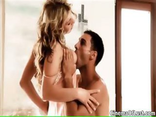 Hot blonde babe gets horny part1