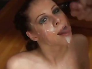 Cumshot Facial  Swallow