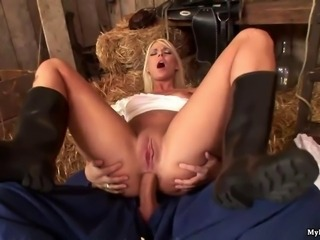 Simony Diamond gorgeous blue eyed blonde Irish colleen gets nailed