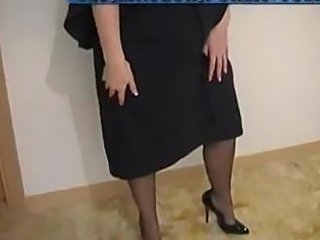 School Teacher In Black Stockings