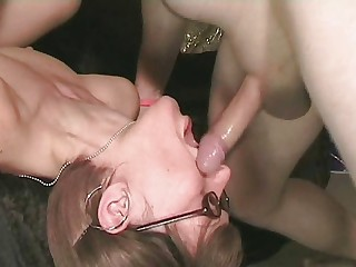 Amateur Deepthroat Glasses Skinny