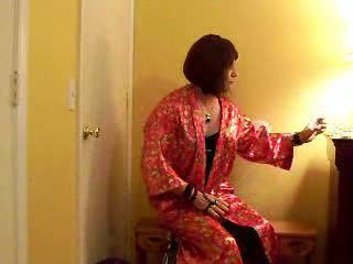 Smoking Ladyboy Yanking Hard Rod