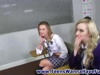 Schoolgirl real amateur horny teens