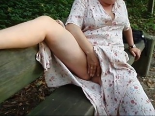 European German Mature Outdoor Pussy
