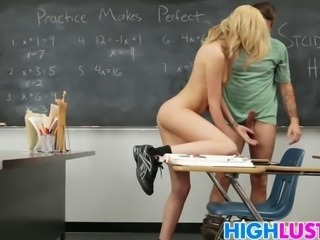 Schoolgirl Emily Kae wants her teachers long cock