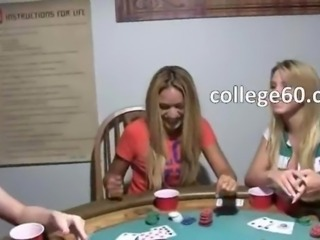 Young schoolmates fucking on poker night