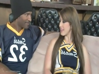 Cheerleader European Interracial