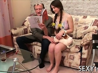 Babe Blowjob Old and Young Teacher Teen