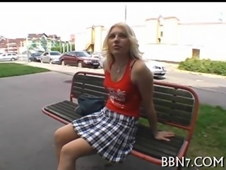 Blonde Fetish Public Teen