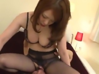 Asian Facesitting Forced Japanese Licking Stockings