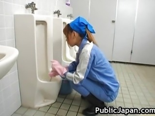 Cute Solo Teen Toilet Uniform