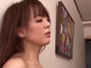 Asian Big Tits Blowjob Kitchen