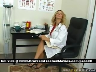 Blonde Cute Doctor Natural Office Uniform