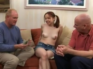 Cash Old and Young School Teen Threesome