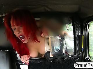 Busty Amateur Screwed Up With The Driver At The Backseat Of His Cab