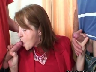 Meeting in the office ends up threesome fucking