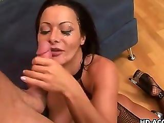 Babe Blowjob European Facial