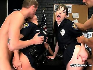 Bend Over Horny Lady Officers