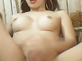 Busty Asian Tranny Jerking Off her Big Hard Cock Sex Tubes
