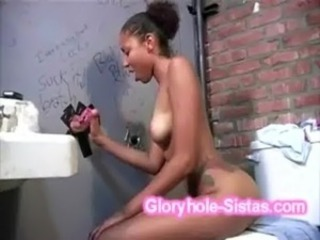 Ebony Gloryhole Teen Toilet