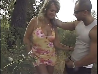 Mature Mom Old and Young Outdoor