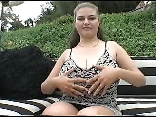 British Busty Denise Davies in a FMM threesome outdoors